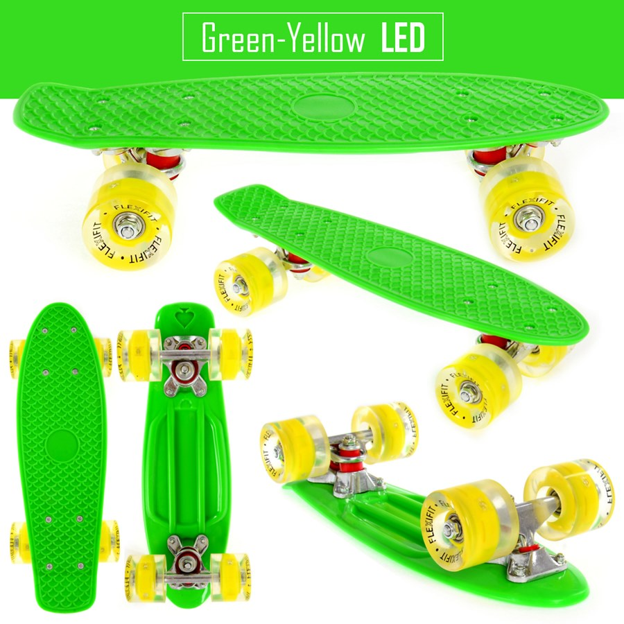 Deskorolka Fishboard LED Flexifit F2 GREEN