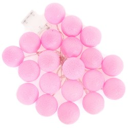 Girlandy Świetlne Cotton Balls 20 PINK