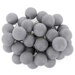 Girlandy Świetlne Cotton Balls 35 GREY
