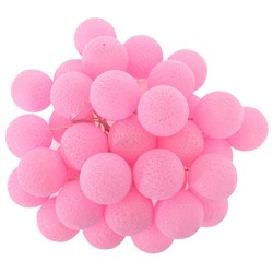 Girlandy Świetlne Cotton Balls 35 PINK