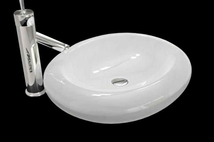 Vasque en ceramique a poser luna blanc noir design occasion ebay - Vasque a poser occasion ...