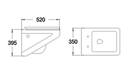 wand h nge wc bidet softclose sitz flavio wei schwarz 350 mm 395 mm ebay. Black Bedroom Furniture Sets. Home Design Ideas